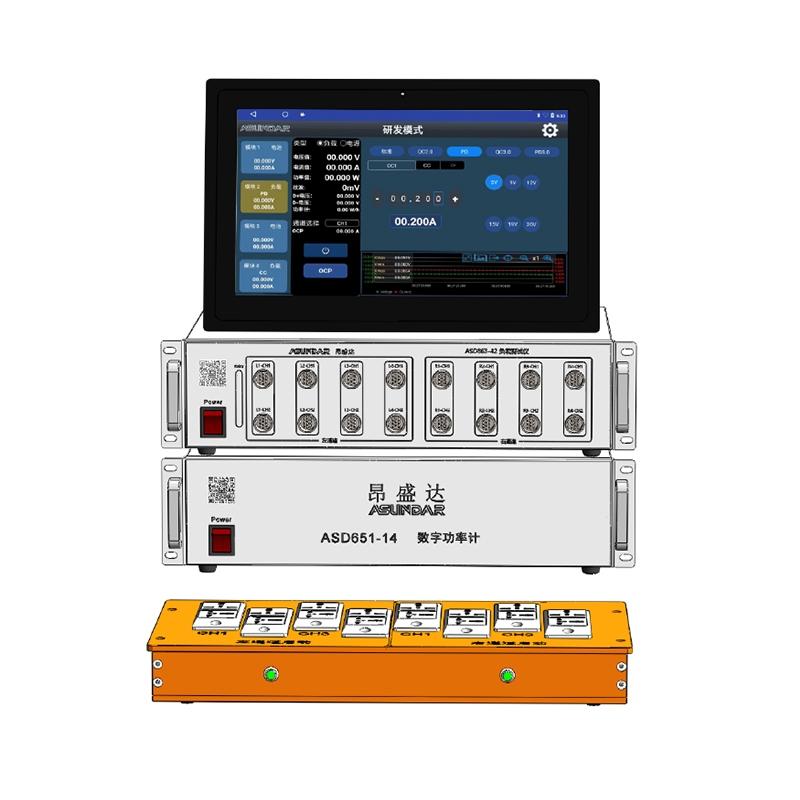 昂盛达ASUNDAR ASD863+651快充适配器测试仪